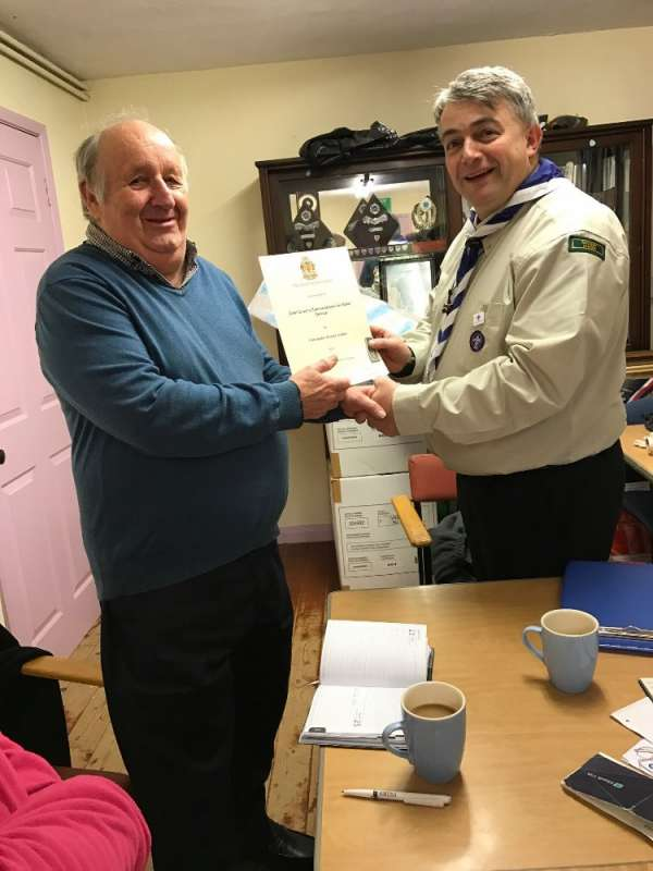 Chris Jordan - Chief Scout's Commendation Award