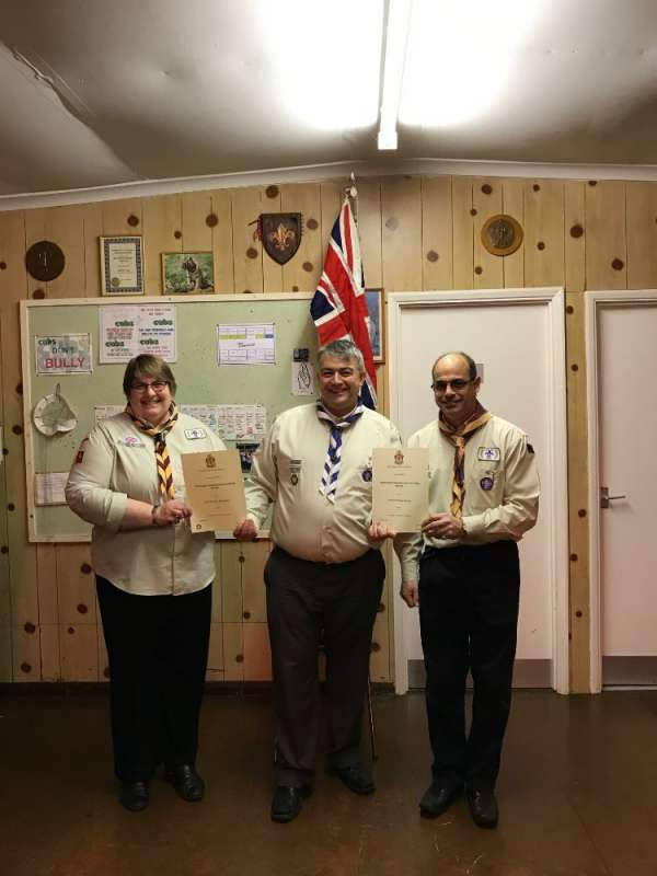 Jayne Richardson and Fred Sawyer - Chief Scout's Commendation Award