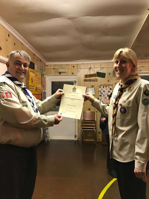 Samantha Murray - Chief Scout's Commendation Award
