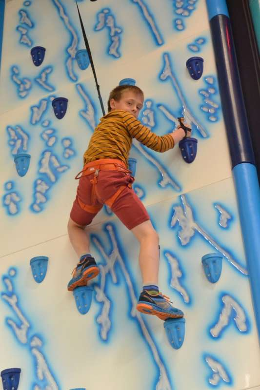 Climbing at Dover Sports Centre