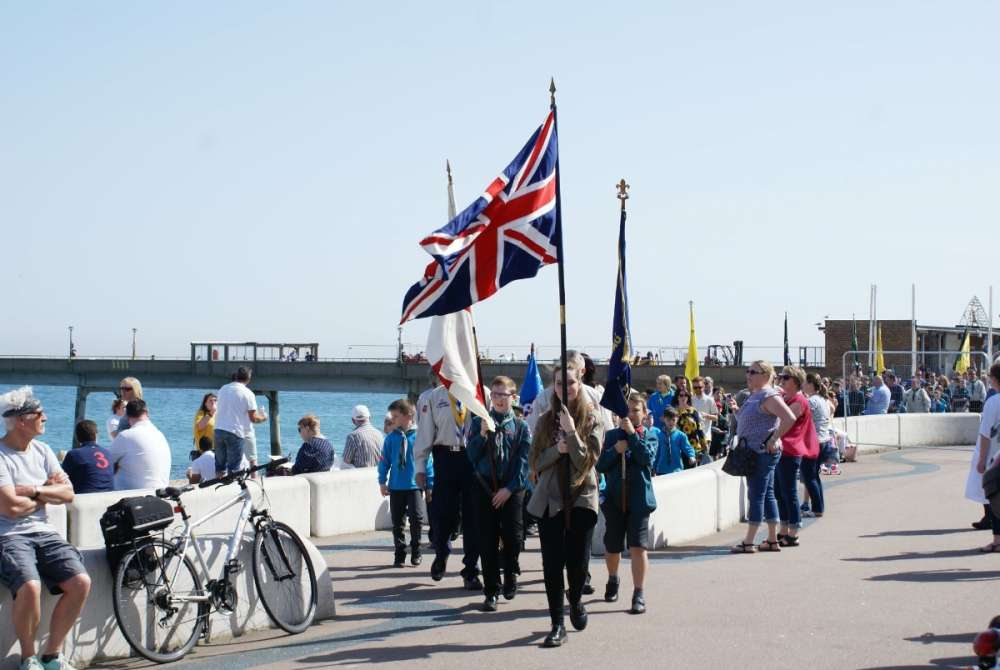 Parading by Deal Pier